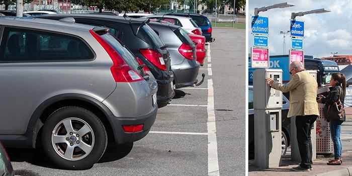 parkering, avenyn