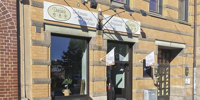 dolcevia, avenyn, södra vägen, glass, italienskt